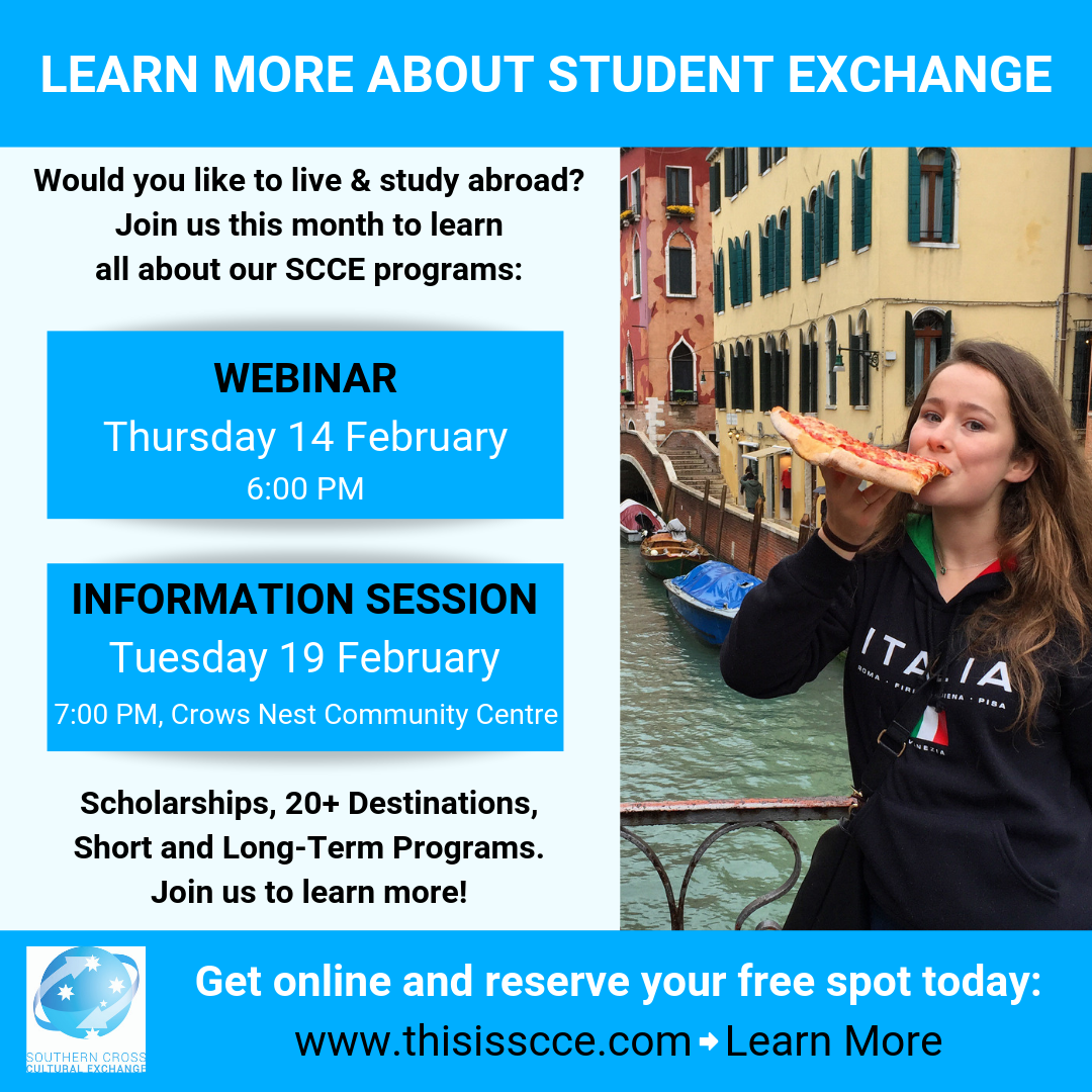 student exchange scholarship information